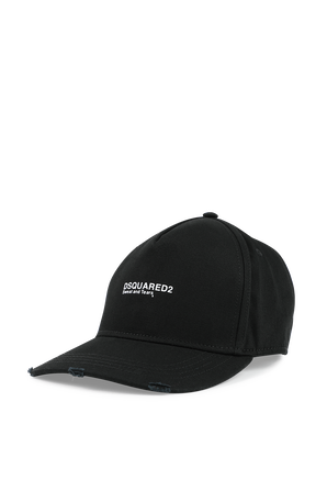 Power Twins Baseball Cap in Black DSQUARED2