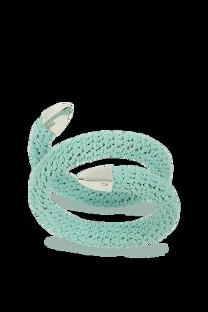 Spiral Cuff Bracelet in Light Blue BOTTEGA VENETA