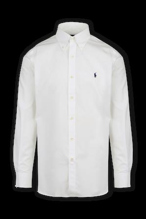 Easy Care Strech Slim Fit Shirt in White POLO RALPH LAUREN