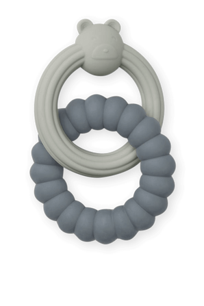 טבעת נשיכה כפולה בגווני כחול ואפור LIEWOOD