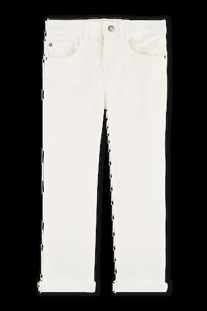 גילאי 3-5 מכנסיים ארוכים בגוון שמנת PETIT BATEAU