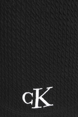 Strech Rib Bodycon Mini Skirt in Black CALVIN KLEIN