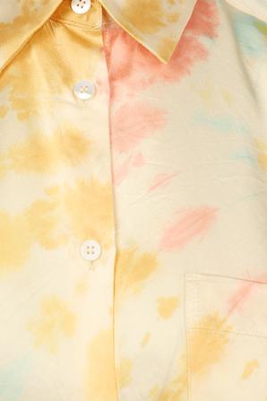 Long Pants in Yellow Tie-Dye ELLE SASSON