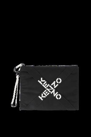 Sport Large Clutch in Black KENZO