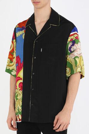 Medusa Reinassance Print Shirt in Black VERSACE