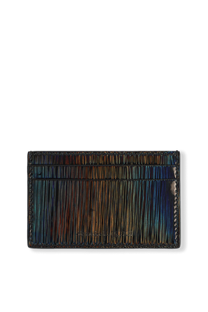 Iridescent Card Holder in Multicolor ALEXANDER MCQUEEN