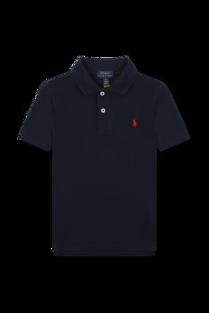גילאי 8-18 חולצת פולו קלאסית קצרה בכחול נייבי POLO RALPH LAUREN KIDS
