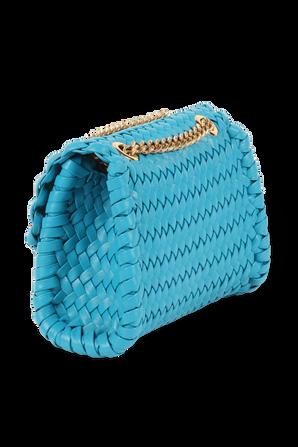 Devotion Woven Large Bag in Blue DOLCE & GABBANA