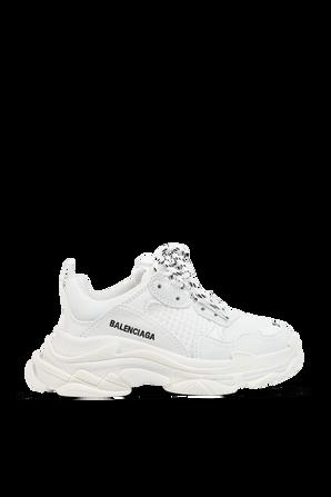 מידות 23-33 נעלי סניקרס לבנות עם שם המותג בצד BALENCIAGA KIDS