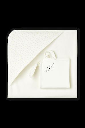 מארז של מגבת מיוחדת לתינוקות פלוס בובת שמיכי תואמת PETIT BATEAU