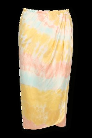 Wrap Skirt in Pastel Tie-Dye ELLE SASSON