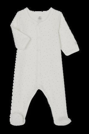 גילאי NB-12 חודשים אוברול שינה ארוך בגימור וולור PETIT BATEAU