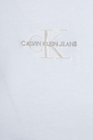 Monogram Small Logo Tee in White CALVIN KLEIN