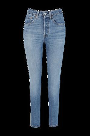 מכנסי סקיני ג'ינס 501 בשטיפה בהירה LEVI`S