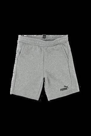 מידות 2-14 מכנסיים קצרים באפור עם לוגו PUMA KIDS