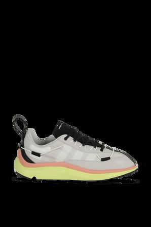 Y-3 Shiku Running Shoes in Grey Y-3