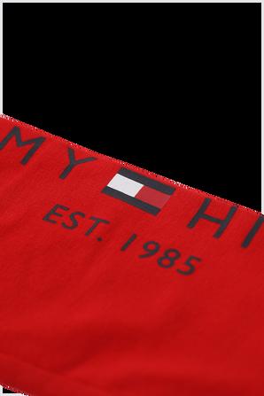 גילאי 8-16 מכנסי טייטס אדומים עם לוגו TOMMY HILFIGER KIDS