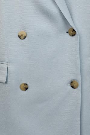Oversized Double Breasted Blazer In Light Blue HUGO