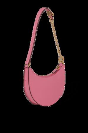 V logo Signature Leather Mini Hobo Bag in Pink VALENTINO