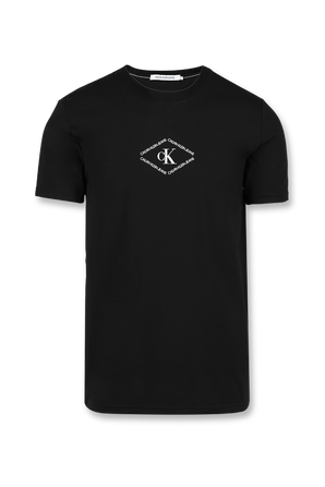 Monotriangle Logo Tee in Black CALVIN KLEIN