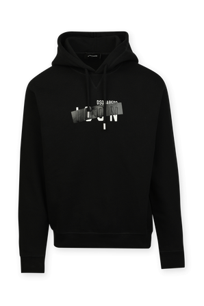 Chest Icon Sweatshirt in Black DSQUARED2