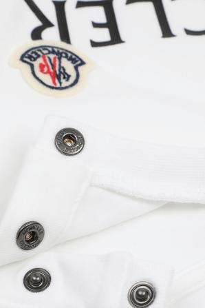 גילאי 2-24 חודשים חולצת טי לבנה עם סגירת כפתורים בכתפיים MONCLER KIDS