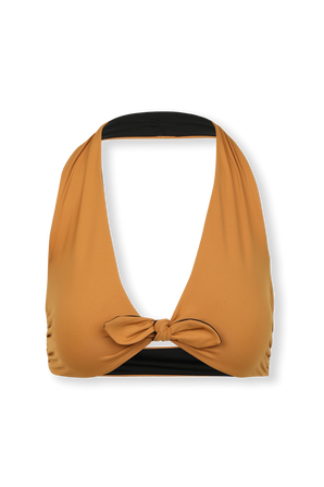 The Parker Bikini Top in Brown and Black SKIN