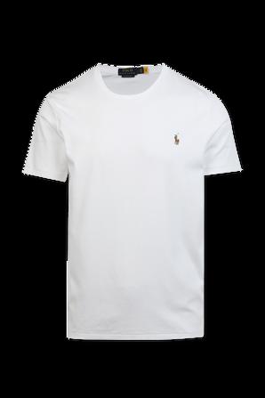 Custom Slim Fit Logo Tee in White POLO RALPH LAUREN