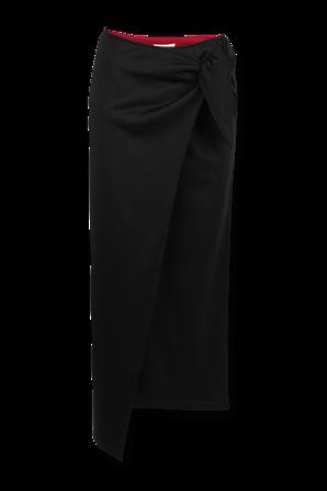 Asymetrical Midi Skirt in Black ISABEL MARANT