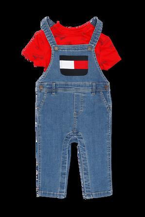 גילאי NB-24 חודשים מארז אוברול וחולצה TOMMY HILFIGER KIDS