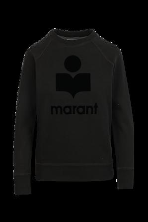 סווטשירט לוגו בצבע שחור ISABEL MARANT