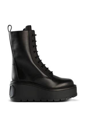 Black Leather Boots With Platform VALENTINO