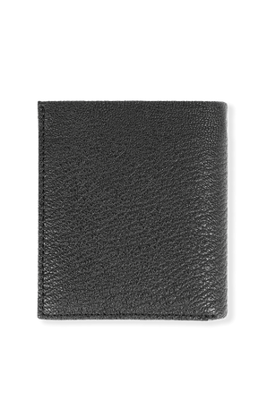 Leather Trifold Wallet in Black CALVIN KLEIN