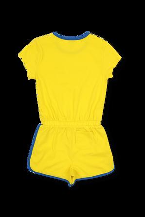 אוברול ג'רזי צהוב עם לוגו POLO RALPH LAUREN KIDS