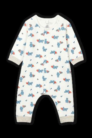 גילאי 0-18 חודשים אוברול כותנה עם דפוס דובונים PETIT BATEAU