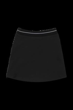 גילאי 4-16 חצאית מיני שחורה עם מיתוג בקו המותן CALVIN KLEIN