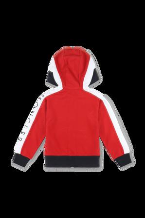 גילאי 12-14 קפוצון נייבי עם דיטייל לוגו בשרוול MONCLER KIDS