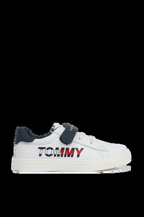 מידות 24-29 נעלי סניקרס נמוכות לוגו TOMMY HILFIGER KIDS
