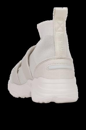 נעלי סניקרס ברכיסה גבוהה בצבע אוף-וויט FILA
