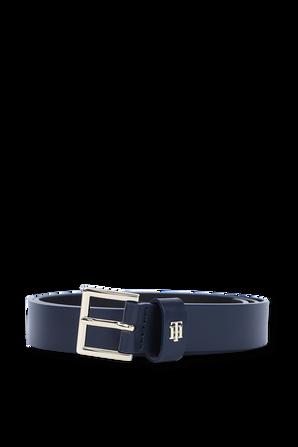 Monogram Belt in Blue Leather TOMMY HILFIGER