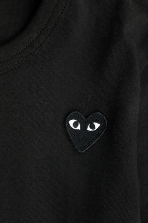 גילאי 2-6 חולצת טי עם מיני לוגו בשחור COMME des GARCONS KIDS