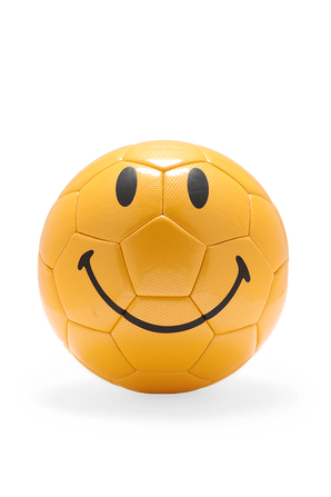 Yellow Smiley Soccer Ball CHINATOWN MARKET
