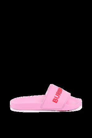 Logo Detail Slides In Pink BURBERRY