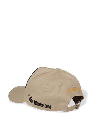Logo Patched Baseball Cap in Beige DSQUARED2