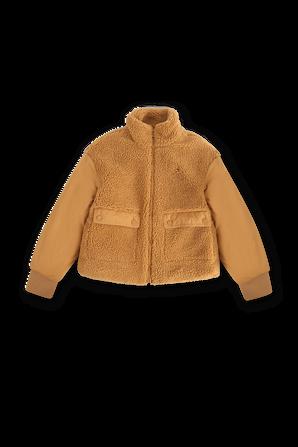 גילאי 8-14 מעיל בגימור צמרירי בצבע חום וינטג' TOMMY HILFIGER KIDS