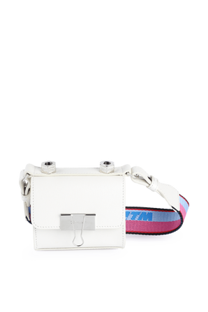 Binder Crossbody Bag in White Leather OFF WHITE