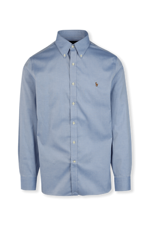 Classic Buttoned Down Shirt in White POLO RALPH LAUREN