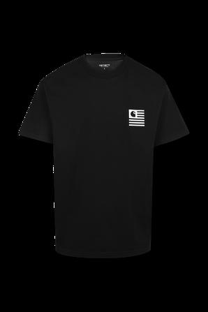 חולצת טי עם לוגו בצבע שחור CARHARTT WIP