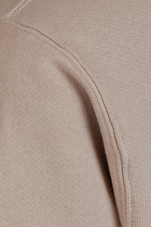 Cropped Zip Hoodie in Mauve LES TIEN
