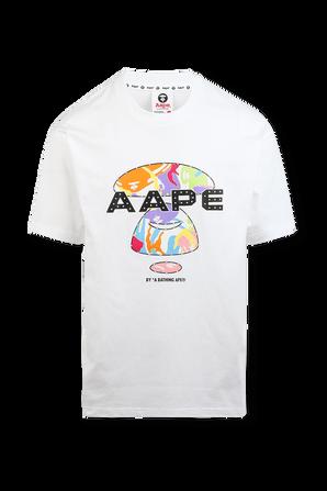 Urban Print Straight Tshirt in White AAPE
